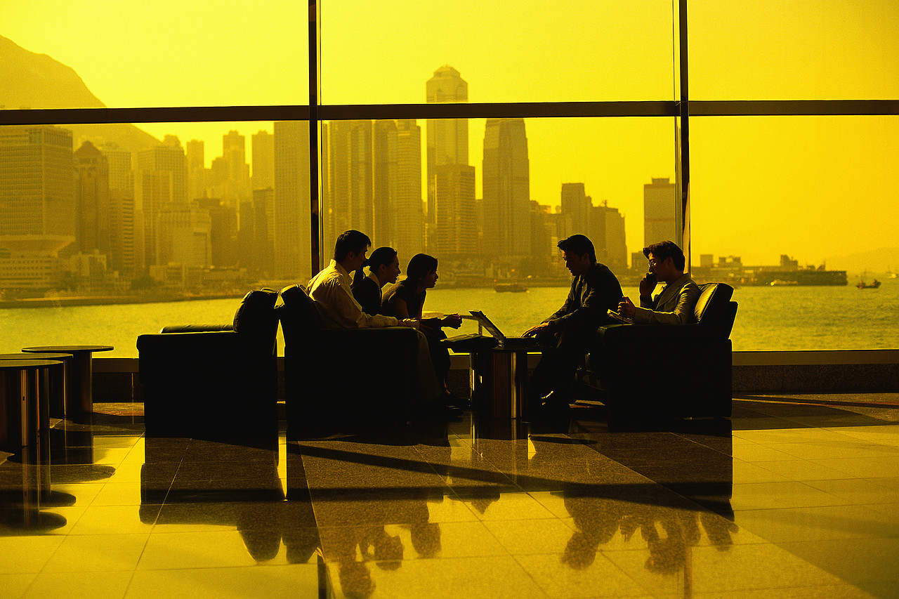 Businesspeople Meeting in Sitting Area